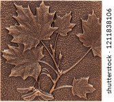 Copper Maple Leaf Wall Decor O...