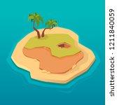 treasure map for game. treasure ... | Shutterstock .eps vector #1211840059