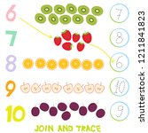 kids learning number material 6 ... | Shutterstock . vector #1211841823