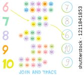 kids learning number material 6 ... | Shutterstock . vector #1211841853