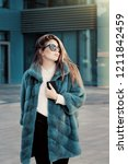 pretty teenage girl wearing... | Shutterstock . vector #1211842459