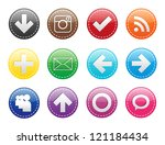 rainbow set of textured icons