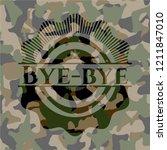 bye bye on camo pattern | Shutterstock .eps vector #1211847010