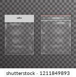 plastic bag icon transparent... | Shutterstock . vector #1211849893