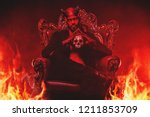 a portrait of a bad demon in... | Shutterstock . vector #1211853709
