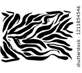 Brush Painted Zebra Pattern....