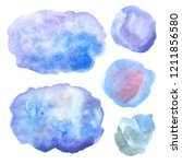 watercolor hand painted... | Shutterstock . vector #1211856580