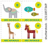 abc alphabet for kids. set of... | Shutterstock . vector #1211857369