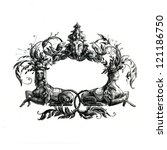 decorative borders drawn in ink ... | Shutterstock . vector #121186750