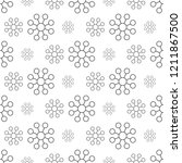 gray flower pattern seamless ...   Shutterstock .eps vector #1211867500