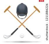 polo mallet with horseman... | Shutterstock .eps vector #1211886226