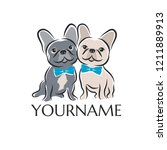 two french bulldogs as dog... | Shutterstock .eps vector #1211889913