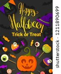 happy halloween. trick of treat   Shutterstock .eps vector #1211890699
