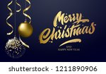 merry christmas and happy new...   Shutterstock .eps vector #1211890906