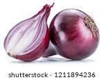 red onion bulb and cross... | Shutterstock . vector #1211894236
