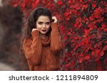 woman outdoor portrait. young... | Shutterstock . vector #1211894809