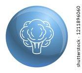 eco broccoli icon. outline eco... | Shutterstock .eps vector #1211896060