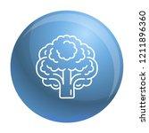 vegan broccoli icon. outline... | Shutterstock .eps vector #1211896360