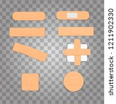 set isolated realistic medicine ... | Shutterstock .eps vector #1211902330