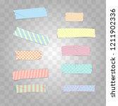 set realistic pastel colour... | Shutterstock .eps vector #1211902336