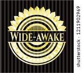 wide awake gold shiny badge | Shutterstock .eps vector #1211902969