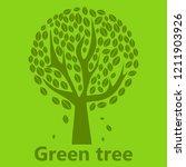 green tree logo abstract design ... | Shutterstock .eps vector #1211903926