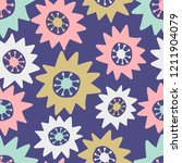 seamless pattern with abstract... | Shutterstock .eps vector #1211904079