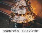 steampunk christmas tree.... | Shutterstock . vector #1211910709