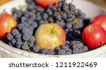 grapes sold at the fair in the... | Shutterstock . vector #1211922469