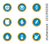 preserving icons set. flat set... | Shutterstock .eps vector #1211932333