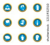 threat icons set. flat set of 9 ... | Shutterstock .eps vector #1211932510