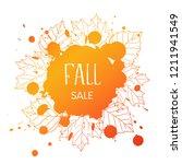 fall sale. grunge background... | Shutterstock . vector #1211941549