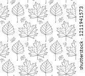 autumn leaves. monochrome... | Shutterstock . vector #1211941573