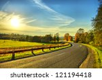 road turn | Shutterstock . vector #121194418