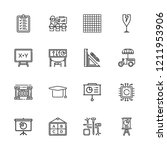 collection of 16 board outline...   Shutterstock .eps vector #1211953906