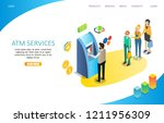 atm services landing page... | Shutterstock .eps vector #1211956309