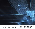 abstract 3d fractal background  ... | Shutterstock . vector #1211957233