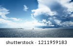 seascape of a baltic sea with...   Shutterstock . vector #1211959183