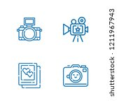 collection of 4 photographic... | Shutterstock .eps vector #1211967943