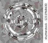bachelor grey camouflage emblem | Shutterstock .eps vector #1211968630