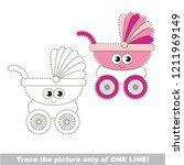drawing worksheet for preschool ... | Shutterstock .eps vector #1211969149