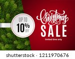 christmas holiday sale 10  off... | Shutterstock .eps vector #1211970676