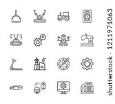 collection of 16 machine... | Shutterstock .eps vector #1211971063