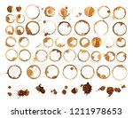 set of various coffee stains... | Shutterstock . vector #1211978653