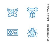 collection of 4 moth outline... | Shutterstock .eps vector #1211979313