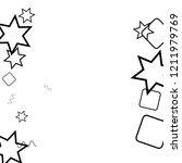 geometric memphis background.... | Shutterstock .eps vector #1211979769