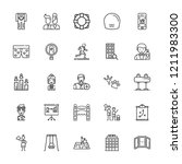 collection of 25 man outline... | Shutterstock .eps vector #1211983300
