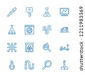 collection of 16 research... | Shutterstock .eps vector #1211983369