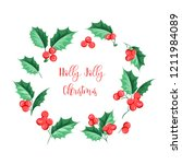 christmas mistletoe holiday... | Shutterstock .eps vector #1211984089