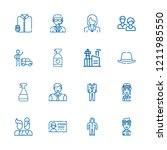 collection of 16 worker outline ...   Shutterstock .eps vector #1211985550